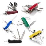 Taschenmesser, Arbeits-Werkzeug, weißer Hintergrund Lizenzfreie Stockbilder