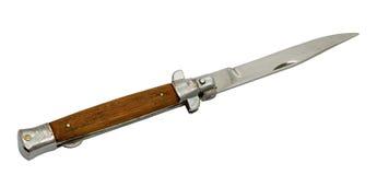 Taschenmesser mit dem Plastikgriff auf einem weißen backgr Stockfoto