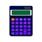 Taschenrechner auf weißem Hintergrund Lizenzfreies Stockfoto