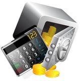 Taschenrechner des Geldes Lizenzfreies Stockbild