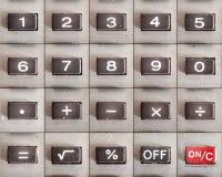 Taschenrechner-Knöpfe eingestellt Stockfotografie