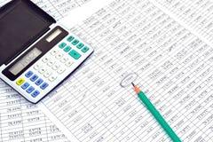 Taschenrechner mit Zahlen Lizenzfreie Stockbilder