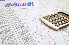 Taschenrechner mit Zahlen Lizenzfreies Stockfoto