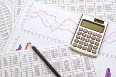 Taschenrechner mit Zahlen Lizenzfreie Stockfotos