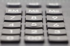 Taschenrechner-Tastatur Weicher Fokus stockfotos