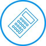 Taschenrechner-Vektor-Linie Ikone Vektor Abbildung