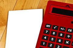 Taschenrechner-Weißbuch stockfoto