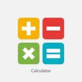 Taschenrechner-Zeichen-Symbol-Ikonen-Vektor-Illustration Lizenzfreies Stockbild
