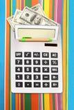 Taschenrechnergeld Stockfotos