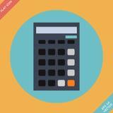 Taschenrechnerikone - Vektorillustration Flaches Design Lizenzfreies Stockbild