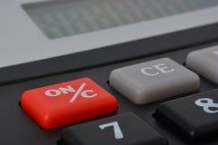 Taschenrechnerknopf lizenzfreies stockbild