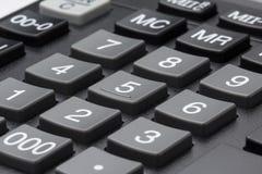 Taschenrechnertastatur-Grauknöpfe Lizenzfreie Stockfotos
