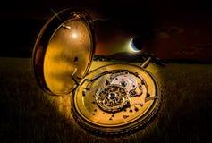 Taschenuhr in der Nacht Lizenzfreies Stockbild