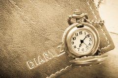 Taschenuhr, gefiltertes Foto der Weinlese Art Lizenzfreie Stockfotos