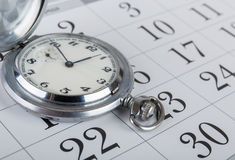Taschenuhr und -kalender Lizenzfreie Stockfotografie