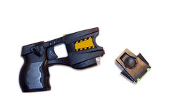 Taser. A common police taser isolated on a white background stock photography