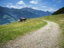 Taser Alm in Zuid-Tirol Stock Foto