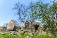 Tash di Beglik - santuario megalitico antico di Thracian immagini stock