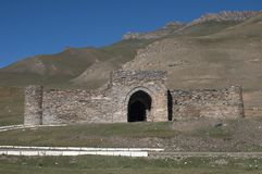 Tash Rabat castle in kyrgystan Royalty Free Stock Image