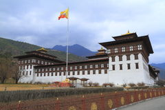 Tashichho Dzong a Thimphu Immagini Stock Libere da Diritti
