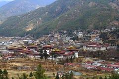 Tashichho Dzong in Thimphu Stock Photo