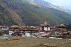 Tashichho Dzong in Thimphu Stock Image