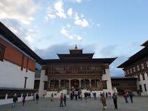 Tashichho Dzong in Thimpu immagine stock libera da diritti