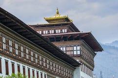 Tashichho Dzong, Timbu, Bhután Imagen de archivo libre de regalías