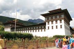 Tashichhoe Dzong - Thimphu - Bhutan Royalty-vrije Stock Foto's