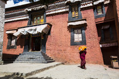 Tashilhunpo kloster i den tibetana platån Royaltyfria Foton