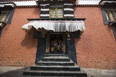 Tashilhunpo kloster i den tibetana platån Arkivbilder