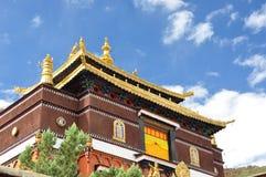Tashilhunpo monastery. Lama temple in Tashilhunpo monastery, tibet, China. Tashilhunpo Monastery , founded in 1447 by Gendun Drup, the First Dalai Lama,[1] is a Stock Photo