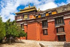 Tashilhunpo Monastery in Shigatse. Building in the Tashilhunpo Monastery, Shigatse, Tibet, China Stock Photo