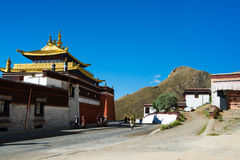 Tashilhunpo monastery. SHIGATSE, TIBET, CHINA-SEPTEMBER 16, 2015: Tashilhunpo monastery in Shigatse, Tibet. Tibet is a region on the Tibetan Plateau in Asia Stock Photos