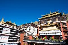 Tashilhunpo monastery. SHIGATSE, TIBET, CHINA-SEPTEMBER 16, 2015: Tashilhunpo monastery in Shigatse, Tibet. Tibet is a region on the Tibetan Plateau in Asia Stock Images