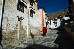 Tashilhunpo monastery. SHIGATSE, TIBET, CHINA-SEPTEMBER 16, 2015: Tashilhunpo monastery in Shigatse, Tibet. Tibet is a region on the Tibetan Plateau in Asia Stock Photography
