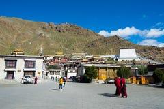 Tashilhunpo monastery. SHIGATSE, TIBET, CHINA-SEPTEMBER 16, 2015: Tashilhunpo monastery in Shigatse, Tibet. Tibet is a region on the Tibetan Plateau in Asia Stock Image