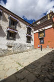 Tashilhunpo monastery in the Tibetan plateau. Tashilhunpo monastery on the qinghai-tibet plateau Royalty Free Stock Image