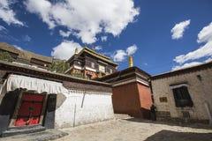 Tashilhunpo monastery in the Tibetan plateau. Tashilhunpo monastery on the qinghai-tibet plateau Royalty Free Stock Photos