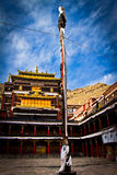 Tashilompu Monastery Court yard Shigaste Tibet Royalty Free Stock Photos