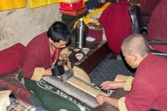 Tashilumpo修道院在日喀则-西藏 库存照片
