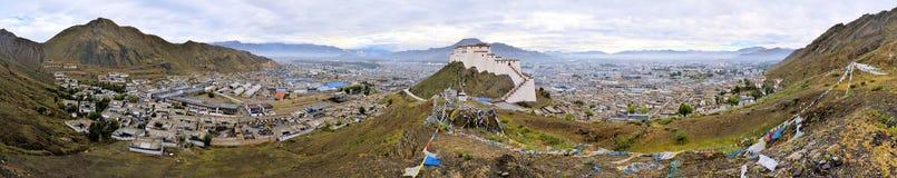 Tashilunpo kloster n Shigatse, Tibet Arkivfoton