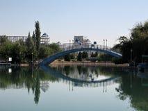 Tashkent Almazar pond and bridge 2007 Royalty Free Stock Photo
