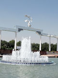 Tashkent fountain in front of the Ezgulik Arch 2007 Royalty Free Stock Image