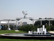 Tashkent the fountain in front of Ezgulik Arch 2007 Royalty Free Stock Photos