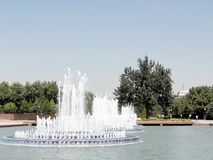 Tashkent the fountains on Independence Square 2007 Stock Photography
