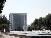 Tashkent fountains near Ministry of Finance 2007 Royalty Free Stock Images