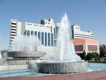 Tashkent fountains of Yunusabad 2007 stock photos