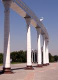 Tashkent Independence Square colonnade 2007 Royalty Free Stock Photos