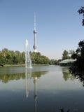 Tashkent la nueva torre 2007 de la TV Fotografía de archivo libre de regalías